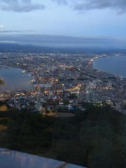 Night view of Hakodate (evening scenery)