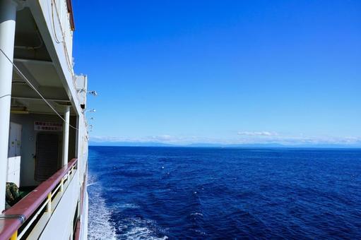 Sea of Japan as seen from Sado Kisen