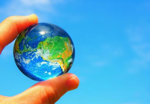 Earth in a glass ball