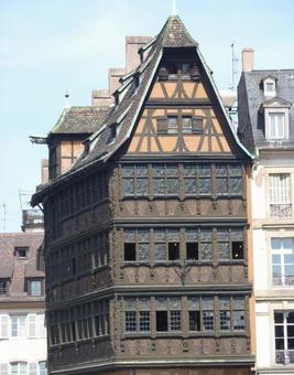 스트라스부르의 역사적인 집