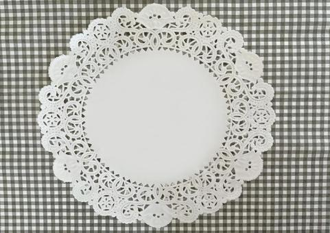 Lace paper and plaid background
