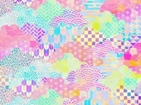 Pattern cloud (pastel)