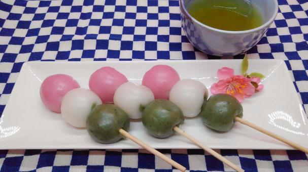 Three color dumpling 1