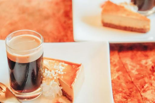 Coffee jelly and cake ②