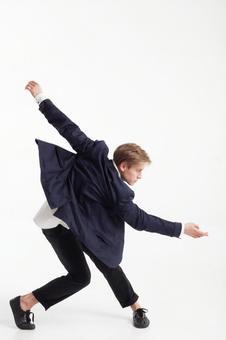 Male dancer who decides pose 17