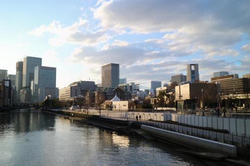오사카의 거리 풍경