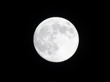 Background moon in the night sky
