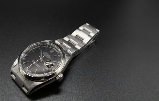 Men's luxury watch black background