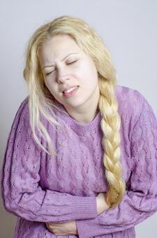 Foreigner female abdominal pain