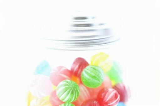 사탕 다채로운 사탕이 들어있는 병 캰데이 이미지 소재