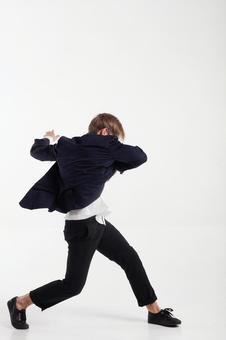 Male dancer who decides pose 20