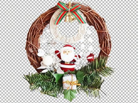 PSD format transparent_Christmas wreath image / preparation / accessories / miscellaneous goods