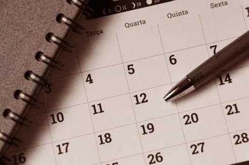 Calendar image photo sepia