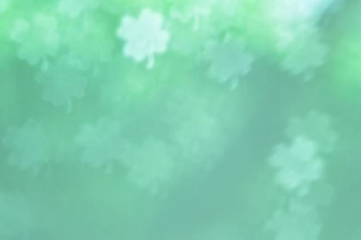 Background material · Four leaf clover (green)