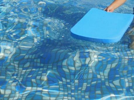 Pool kickboard children's hands