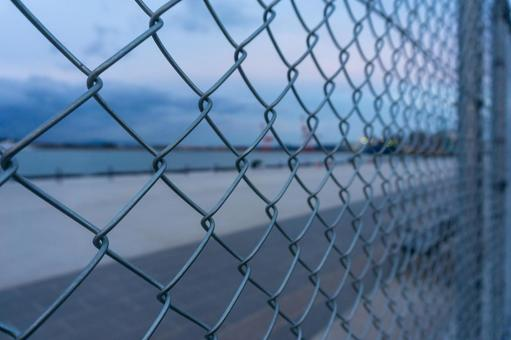 【이시카와 현 가나자와시 가나자와 항】 울타리 너머로 보는 항구