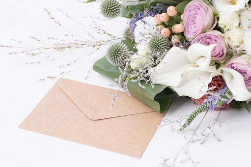 Bouquet and letters