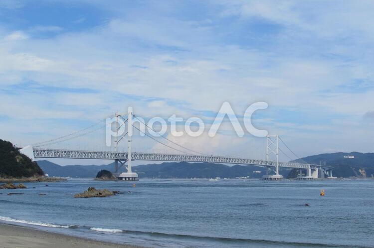 鳴門大橋 千鳥ヶ浜海岸の写真