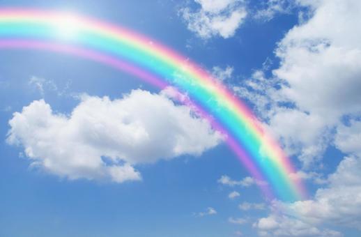 Blue sky_rainbow_167