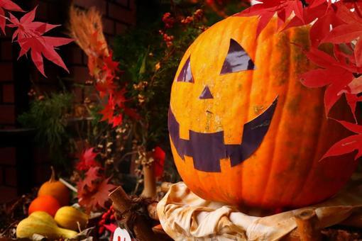 Halloween pumpkin ghost