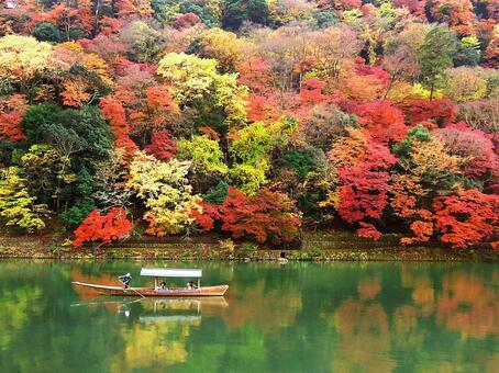 Autumn leaves of Kyoto Arashiyama
