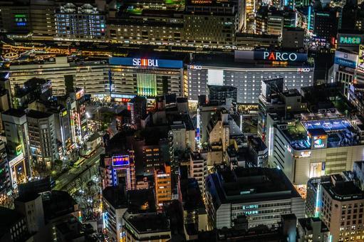 Night view of Ikebukuro station 3