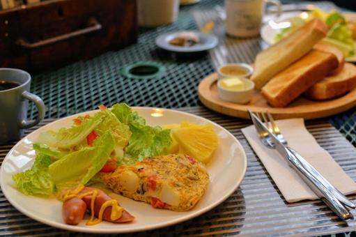 Hotel breakfast in Tainan, Taiwan