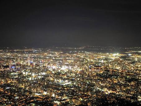 Night view of Mt. Moiwa