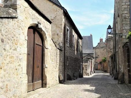 Le Mans, France (arch door), an old town with a medieval cityscape