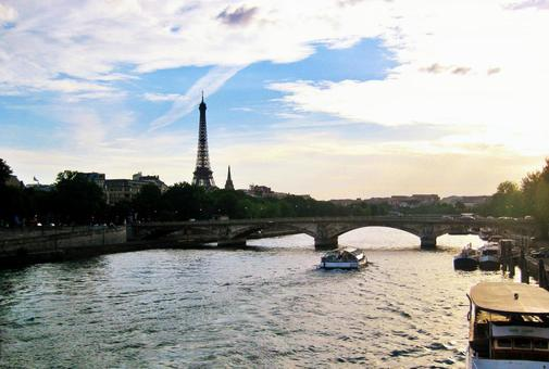 River Seine and Eiffel Tower