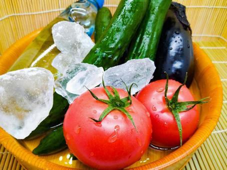 Summer vegetables and ramune