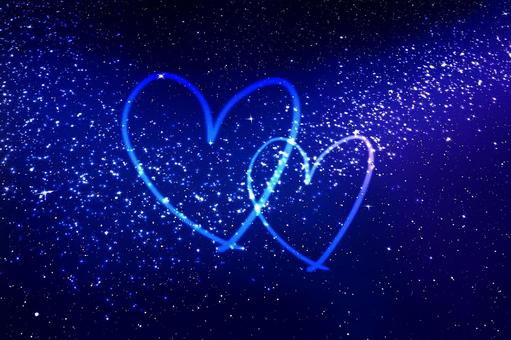 Heart mark of the starry sky
