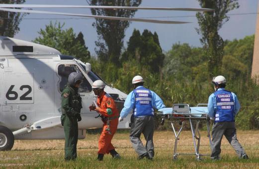 Injured helicopter transport display