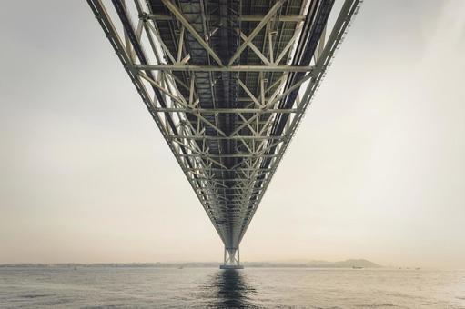 The longest suspension bridge in the world. Akashi Kaikyo Bridge