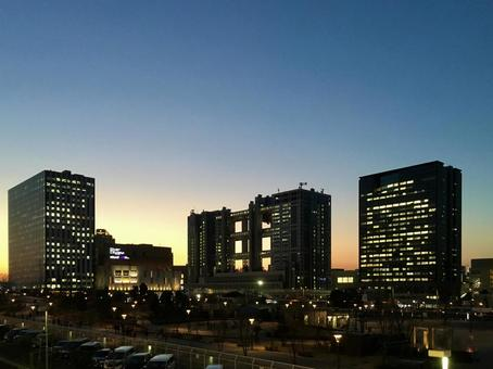 Scenery of Odaiba at dusk