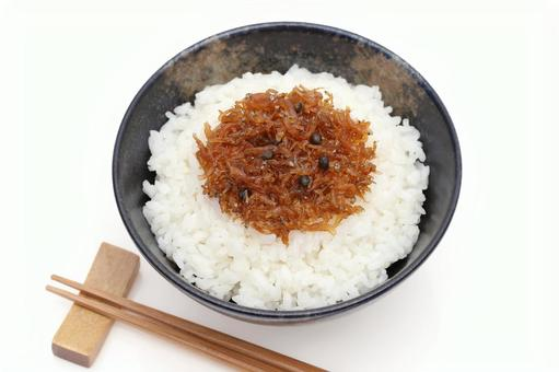 Cooked boiled rice