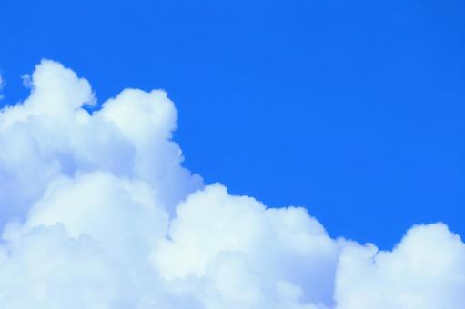 Summer sky with beautiful blue and white Copy space Background material