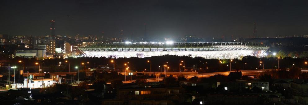Ajinomoto Stadium at night