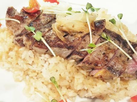 Steak rice 1