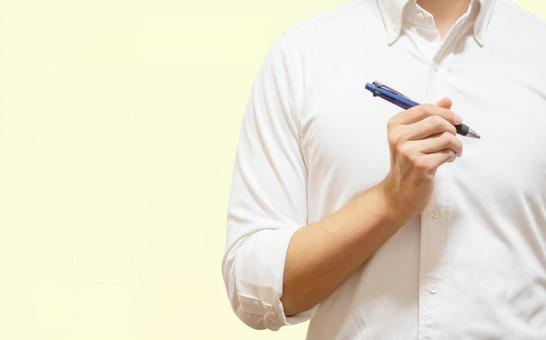A man with a pen