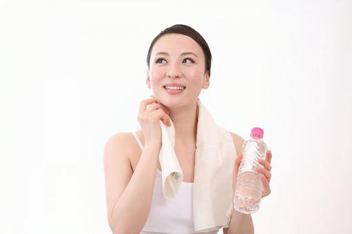 Female with plastic bottle 9