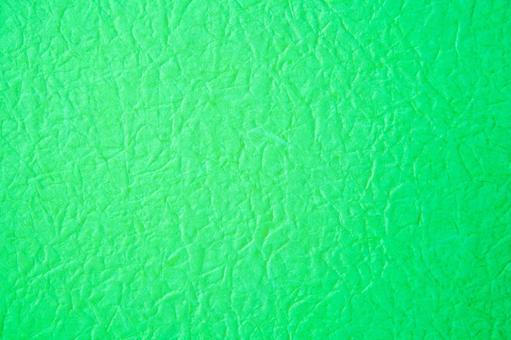 Wrinkled green Japanese paper-like background material