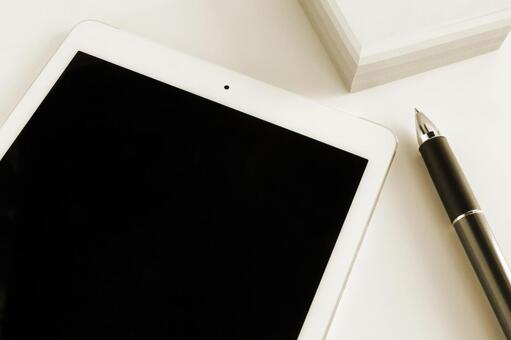 Tablet and writing instrument Sepia