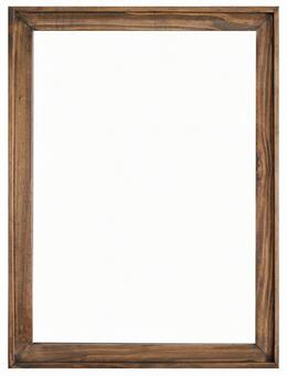 Antique wood frame picture frame psd