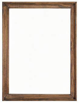 Antique wood frame picture frame psd