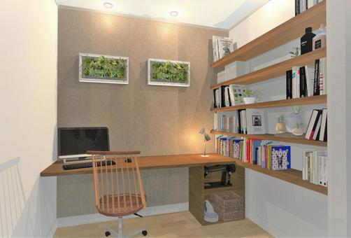 Housework room and family library image