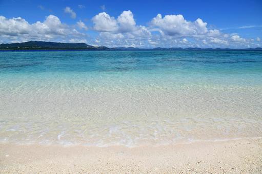 Okinawa blue sea gradation