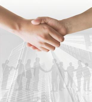 契約成立-握手-白