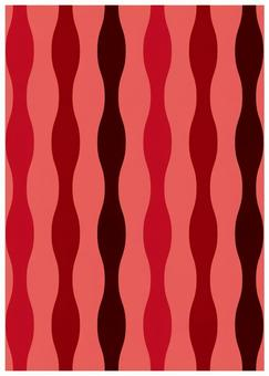 Scandinavian design wavy line red