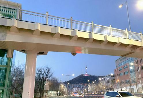 한국 이태원 쿠라스로케 지역 (남산 타워)